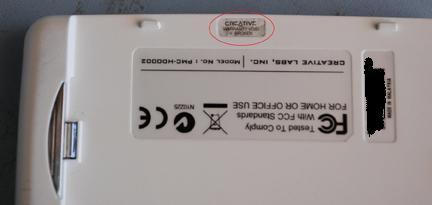 Warranty Sticker Back in Place